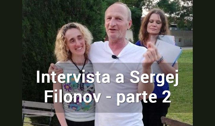 Il prof. Sergej Filonov con la dott.ssa Ethel Cogliani